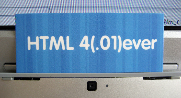 HTML 4(.01)ever, de Neil Crosby, en Flickr