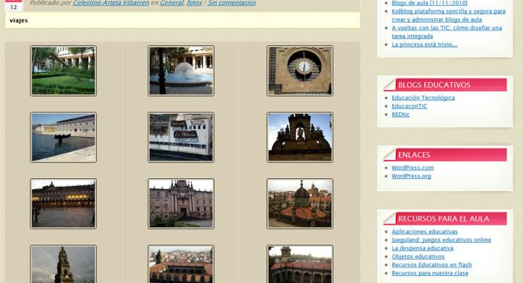 Figura 5 - Otro ejemplo de galerías de Picasa en un blog de Multiblog
