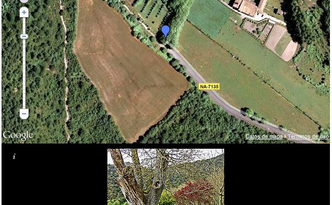 Figura 10 - El mapa del Monasterio de Iranzu, con fotos asociadas, insertado en una entrada de un blog