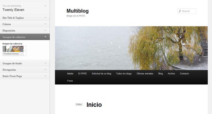 Configuración y vista previa de los temas en WordPress 3.4