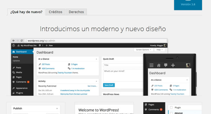 Actualización a WordPress 3.8