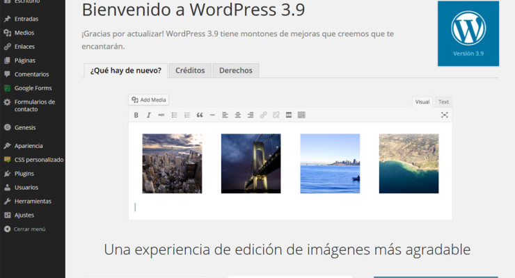 Actualización a WordPress 3.9