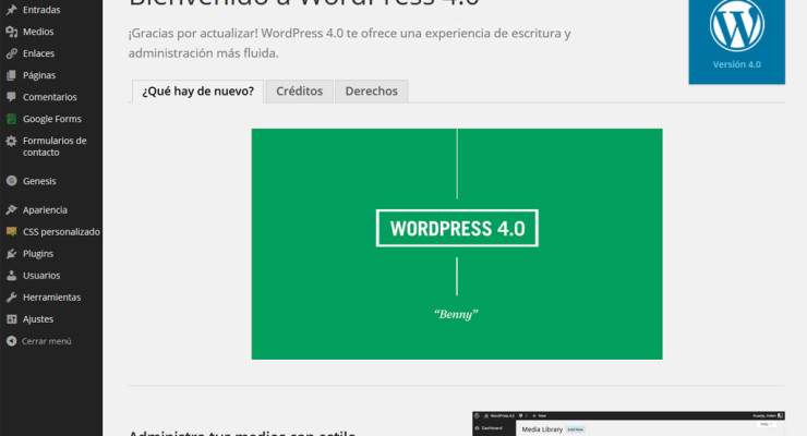 Actualización a WordPress 4.0
