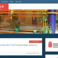 Portada del sitio web del CP Eulza, realizada con el tema Education Pro