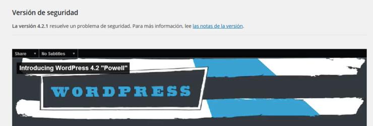 Actualización a WordPress 4.2.1