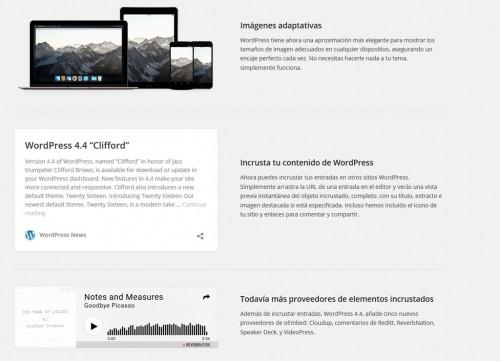 Novedades de la versión 4.4 de WordPress