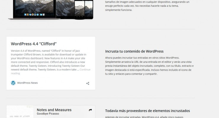 Actualización a WordPress 4.4
