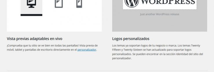 Actualización a WordPress 4.5