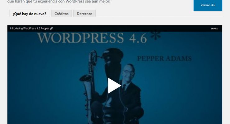 Actualización a WordPress 4.6